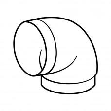 590 - koleno kulaté 90° (Příslušenství k odsávačům) na www.housemode.cz