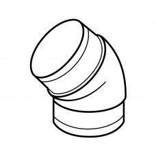 491 - koleno kulaté 45°