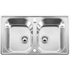 Blanco LANTOS 8-IF  nerez kartáčovaný oboustranné provedení  s excentrem (Dřezy) na www.housemode.cz
