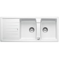 Blanco LEXA 8 S InFino Silgranit bílá oboustranný s excentrem (Dřezy) na www.housemode.cz