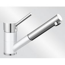 Blanco ANTAS-S ND Silgranit-look dvoubarevná bílá/chrom beztlaková (Baterie) na www.housemode.cz