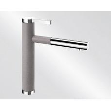 Blanco LINEE S Silgranit-look dvoubarevná aluminium/chrom (Baterie) na www.housemode.cz