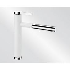 Blanco LINEE S Silgranit-look dvoubarevná bílá/chrom (Baterie) na www.housemode.cz