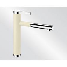 Blanco LINEE S Silgranit-look dvoubarevná jasmín/chrom (Baterie) na www.housemode.cz