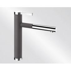 Blanco LINEE S Silgranit-look dvoubarevná šedá skála/chrom (Baterie) na www.housemode.cz