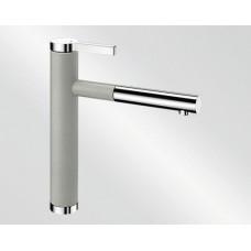 Blanco LINEE S Silgranit-look dvoubarevná perlově šedá/chrom (Baterie) na www.housemode.cz