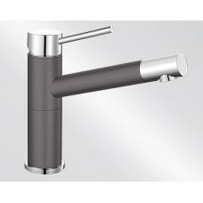 Blanco ALTA Compact Silgranit-look dvoubarevná šedá skála/chrom