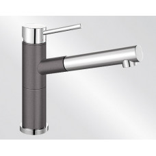 Blanco ALTA-S Compact Silgranit-look dvoubarevná šedá skála/chrom (Baterie granitové) na www.housemode.cz