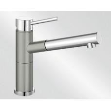 Blanco ALTA-S Compact Silgranit-look dvoubarevná perlově šedá/chrom (Baterie granitové) na www.housemode.cz