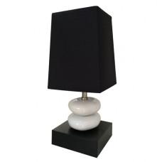 Double stone black - Stolní lampa