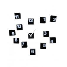Nástěnné samolepící hodiny - černobílé