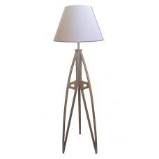 Dřevěná stojací lampa - podstava hnědá, trojnožka