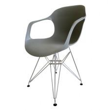 Šedé křesílko + kovové nohy (Židle a barové židle) na www.housemode.cz