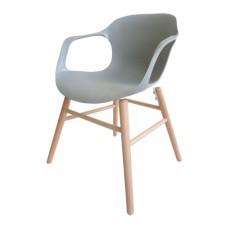 Šedé křesílko + dřevěné nohy (Židle a barové židle) na www.housemode.cz