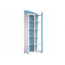 Knihovna DIANA jednodvéřová modrá