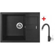 Sinks AMANDA 650 Metalblack+MIX 35 GR
