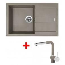 Sinks AMANDA 780 Truffle+MIX 3P GR