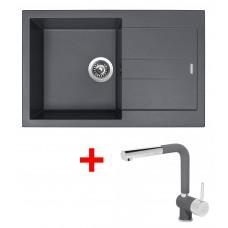 Sinks AMANDA 780 Titanium+MIX 3P GR