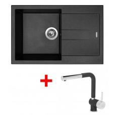 Sinks AMANDA 780 Metalblack+MIX 3P GR