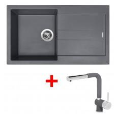 Sinks AMANDA 860 Titanium+MIX 3P GR
