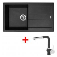 Sinks AMANDA 860 Metalblack+MIX 3P GR