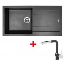 Sinks AMANDA 990 Metalblack+MIX 3P GR